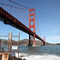 The Golden Gate Bridge At Fort Point - 5d21473 by Wingsdomain Art and Photography