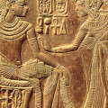 The Golden Shrine Of Tutankhamun by Egyptian Dynasty