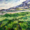 The Green Wheatfield Behind The Asylum by Vincent van Gogh