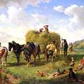 The Hay Harvest by Hermann Kauffmann