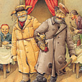 The Honest Thief 01 Illustration For Book By Dostoevsky by Kestutis Kasparavicius