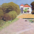 The House With The Red Roof by Felix Edouard Vallotton