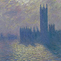 The Houses Of Parliament Stormy Sky by Claude Monet