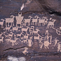 The Hunt Scene- Ancient Pueblo-anasazi by Ira Block