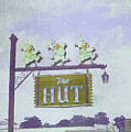 The Hut Bbq Restaurant Sign by Jerry Grissom