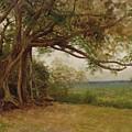The Landing Of Columbus by Albert Bierstadt
