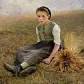 The Little Gleaner by Hugo Salmon
