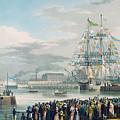 The Opening Of Saint Katharine Docks by Edward Duncan
