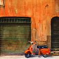 The Orange Vespa by Karen Fleschler