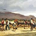 The Pig Market by Pierre Edmond Alexandre Hedouin