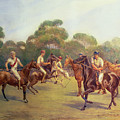 The Polo Match by C M  Gonne