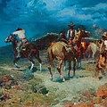 The Pony Express by Frank Tenney Johnson