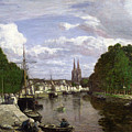 The Port At Quimper by Eugene Louis Boudin