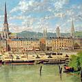 The Port At Rouen by Torello Ancillotti