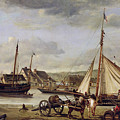 The Quay At Rouen by Jean Baptiste Camille Corot