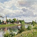 The River Oise Near Pontoise by Camille Pissarro