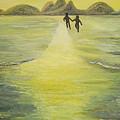 The Road In The Ocean Of Light by Karina Ishkhanova