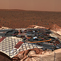 The Rovers Landing Site, The Columbia by Stocktrek Images
