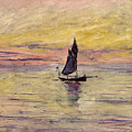 The Sailing Boat Evening Effect by Claude Monet