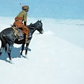 The Scout Friends Or Foes by Frederic Remington