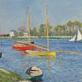 The Seine At Argenteuil by Gustave Caillebotte