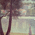 The Seine At Courbevoie by Georges Pierre Seurat
