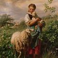 The Shepherdess by Johann Baptist Hofner