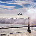 The Space Shuttle Endeavour Over Golden Gate Bridge 2012 by David Yu