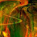 The spirit glows Print by Linda Sannuti
