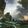 The Storm by Claude Joseph Vernet