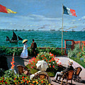 The Terrace At Sainte Adresse by Claude Monet