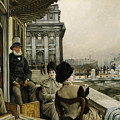The Terrace Of The Trafalgar Tavern Greenwich by James Jacques Joseph Tissot