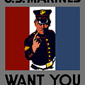 The U.s. Marines Want You  by War Is Hell Store