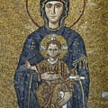 The Virgin Mary Holds The Child Christ On Her Lap by Ayhan Altun