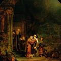 The Visitation by  Rembrandt Harmensz van Rijn