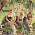 The Washerwomen by Camille Pissarro