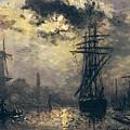 The Windmills In Rotterdam by Johan Barthold Jongkind