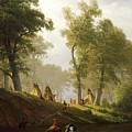 The Wolf River - Kansas by Albert Bierstadt
