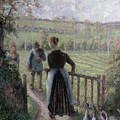 The Woman With The Geese by Camille Pissarro