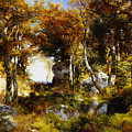 The Woodland Pool by Thomas Moran