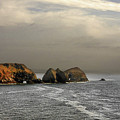 Three Arch Rocks - Oceanside Near Cape Meares - Oregon by Christine Till