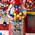 Three Bubble Gum Machines by Garry Gay