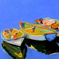Three Colourful Boats by Sue Gardner