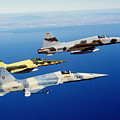 Three F-5e Tiger II Fighter Aircraft by Dave Baranek