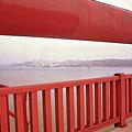 Through The Bridge View Of San Francisco by Steve Ohlsen