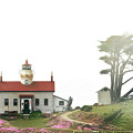 Tides Of Battery Point Lighthouse - Northern Ca by Christine Till