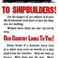 To Shipbuilders - Our Country Looks To You  by War Is Hell Store