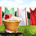 Towels Drying On The Clothesline by Sandra Cunningham