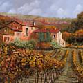 tra le vigne a Montalcino Print by Guido Borelli