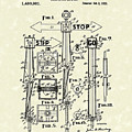 Traffic Signal 1922 Patent Art by Prior Art Design